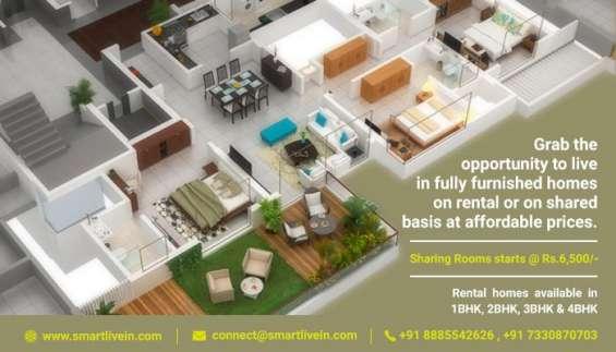 Furnished flats,apartments for rent on shared basis | smartlivein