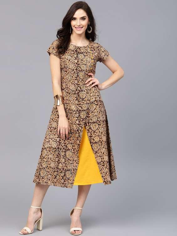 Latest kalamkari kurti dress online | buy kalamkari kurtibangalore