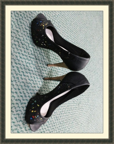 Black stilettos shoes
