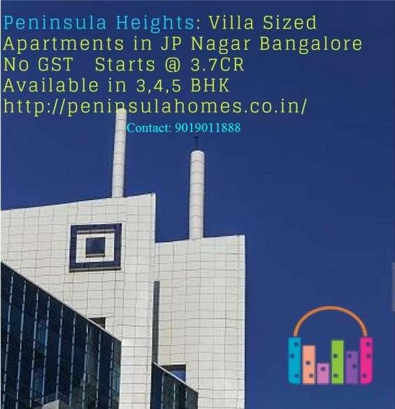 Peninsula heights villa sized apartments in jp nagar bangalore