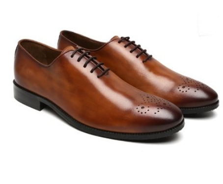 Genuine leather shoes - brand brune