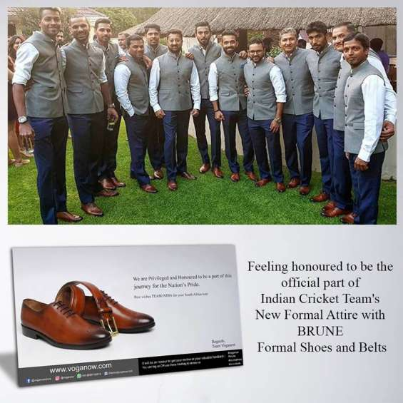 Indian cricket team in brune shoes