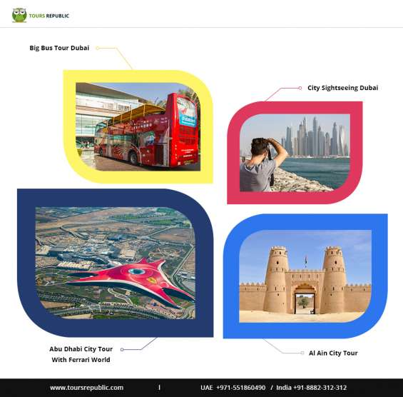 Enjoy city tours in dubai | aply dubai tourist visa | call +91-8882-312-312