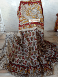 Kalamkari cotton sarees for rs.1207 online on trendy handlooms