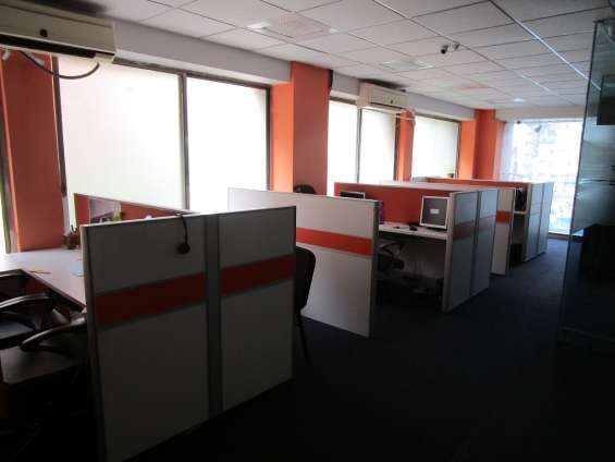 Office on rent # furnished 5 work station # at satellite # ahmedabad # for it company # bp