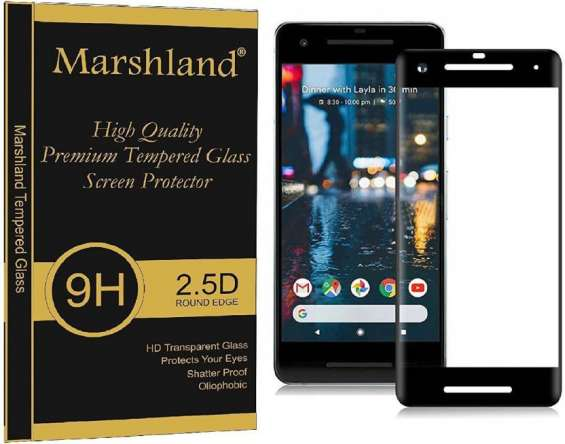 Marshland 4d tempered glass for google pixel 2