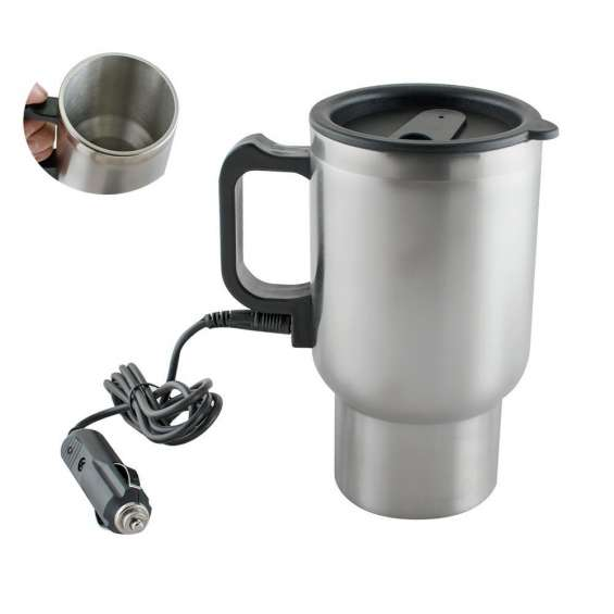 Car heating cup 12v 400ml stainless steel coffee cup