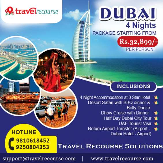 Dubai holiday tour package at travel recourse