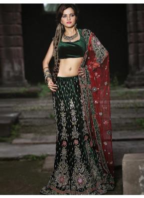 Find the best designer lehengas online at india emporium