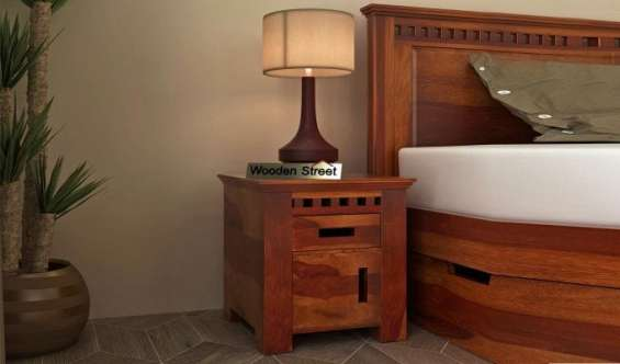 Best deals on wooden bedside table online in bangalore