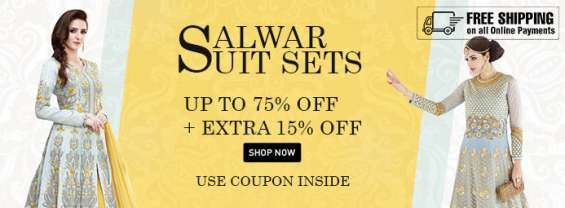 Exciting offers on salwar suite sets on hs18