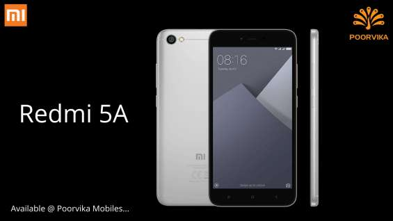 Lowcost best phone mi 5a now available at poorvika mobiles
