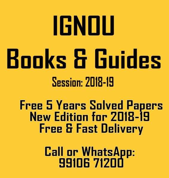 Ignou books in delhi for exams 2018