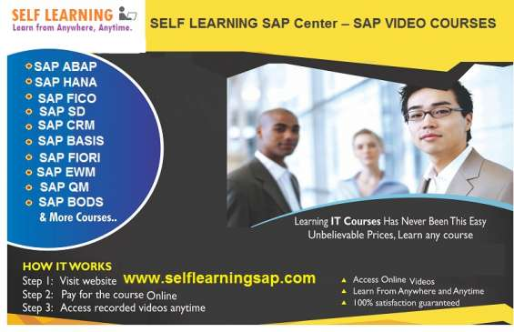 Sap all modules available best offer, best price and combo courses in self learning center
