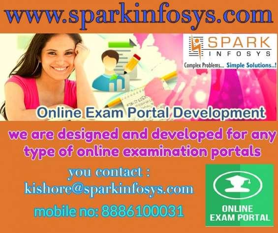 Online exam portal design and development company | sparkinfosys