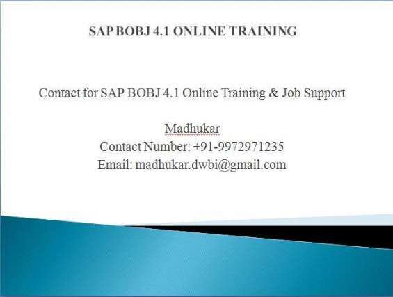 Sap business objects 4.2 online training