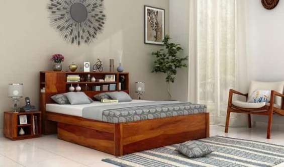 Heavy discounts on queen size bed online at wooden street