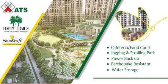 Homeskraft happy trails offers well living flats in noida extension call 8447146146