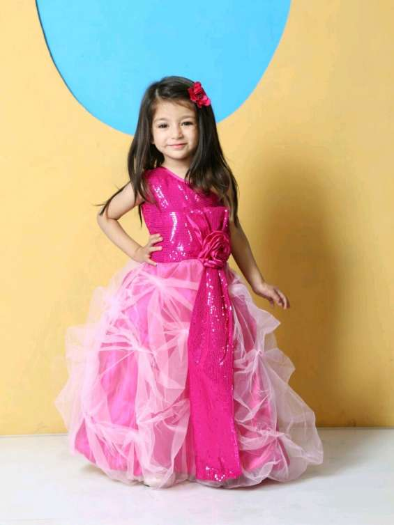 Rosy marshmallow party gown at foreverkidz