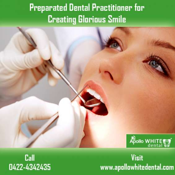 Preparated dental practitioner for creating glorious smile