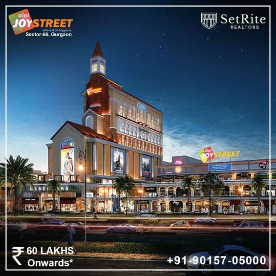Aipl joy street retail shops sector 66 gurgaon +91-90157-05000