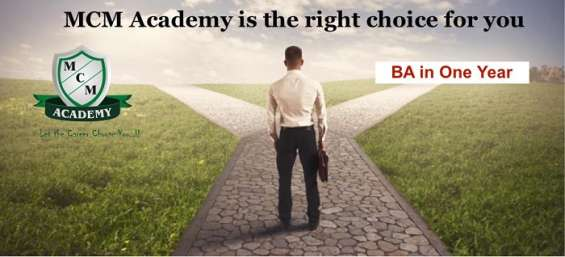 Degree in one year call 09999380958|mcm academy