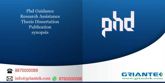 Phd guidance phd assistance