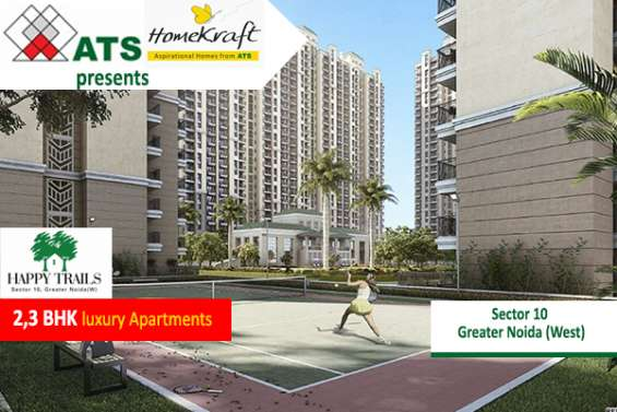 Book 2/3 bhk flats by ats homekraft happy trails in noida extension