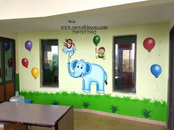 Stunning school wall decorative wall painting in hyderabad