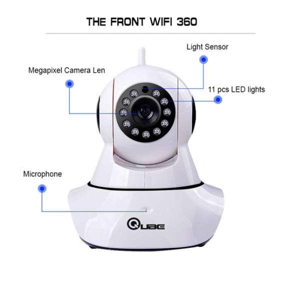 360 auto-rotating wireless cctv cameras