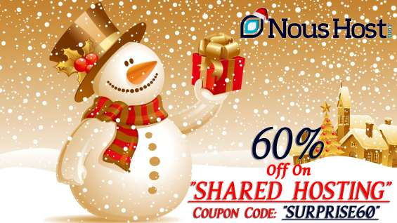 Hurry up!! 60% discount on shared hosting. offer valid till 30th december. grab the offer as soon as possible.
