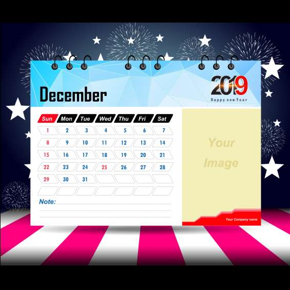 New year 2019 calendars and diaries printing services