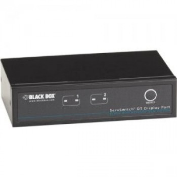 Black box kv9702a servswitch kvm switch dt displayport with usb and audio 2-port