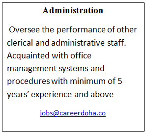 Required administration for qatar