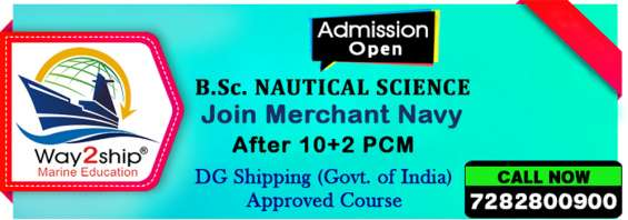 B.sc nautical science | join merchant navy after 12th