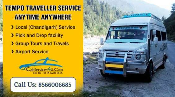 Book tempo traveller in chandigarh