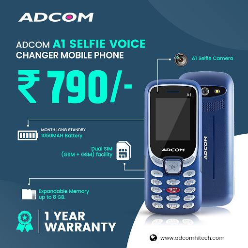 Feature phone with a selfie camera.