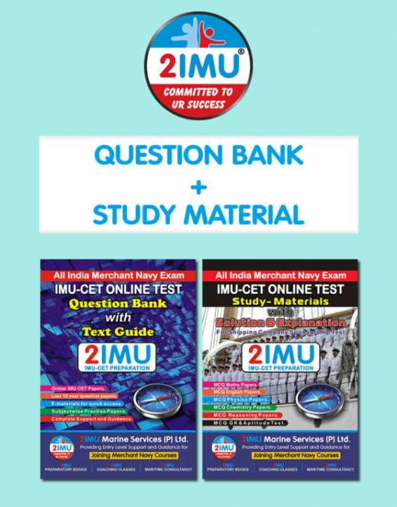 Imucet book | double pack (study material + question bank)