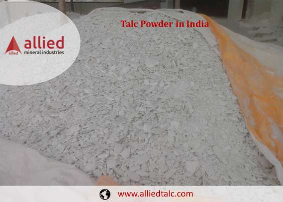 Talc powder exporter in india supplier manufacturer cosmetic industry allied mineral indus