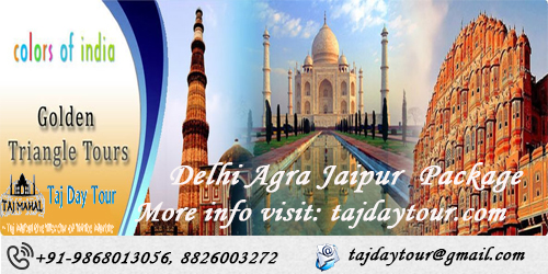 Book golden triangle delhi agra jaipur tour packages online at best price - taj day tour