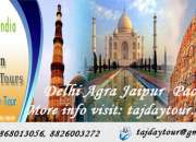 Book Golden Triangle Delhi Agra Jaipur Tour Packages Online at Best Price - Taj Day Tour