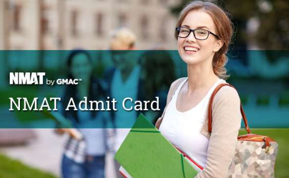 Nmat by gmac admit card 2019 - download process