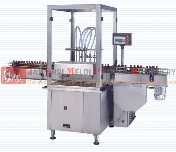 Meldi pharma machinery is manufactured bottle labeling machine and powder filling machine