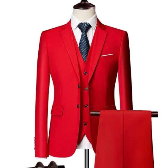 Classic men formal business suit slim royal