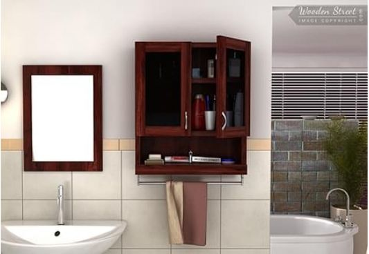 Buy cheap corner bathroom cabinet at wooden street