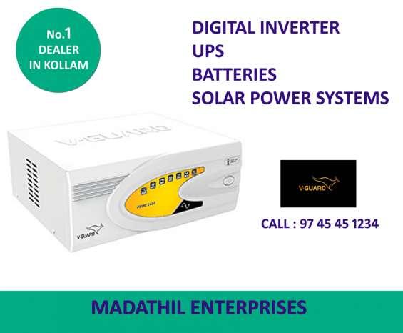 V-guard inverter, battery dealers kollam - madathil enterprises