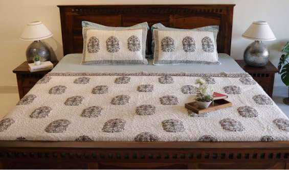 Get bed cover set at up to 55% off online in india- woodenstreet